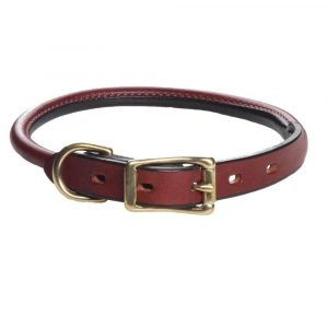 Hamilton Rolled Leather Dog Collar